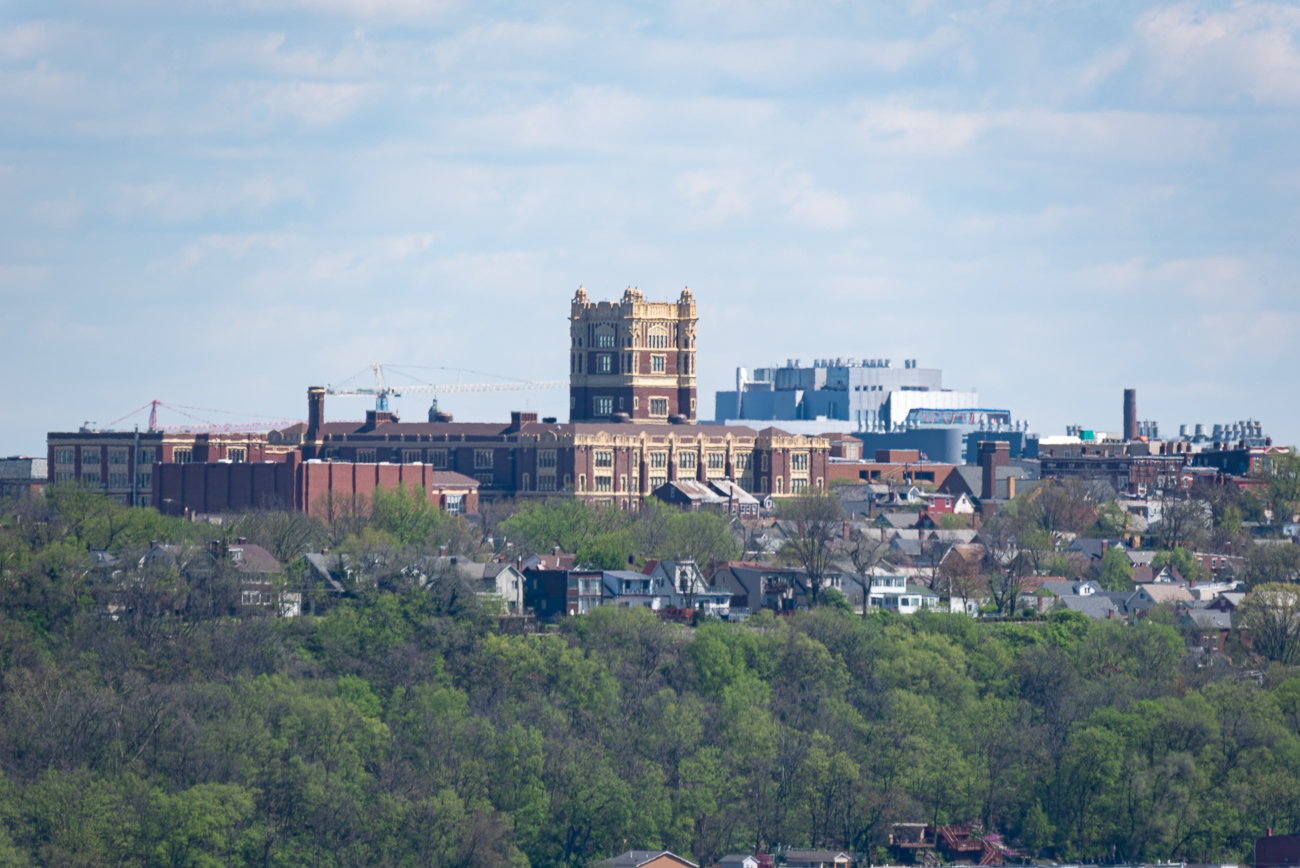 View #3: Olden View Park (East Price Hill) / It's easy to get to, offers a tremendously good view of Downtown, and provides an unobstructed look at the West End and Over-the-Rhine, as well as a view of the hills north and east of Downtown. / Image: Phil Armstrong // Published: 4.24.20