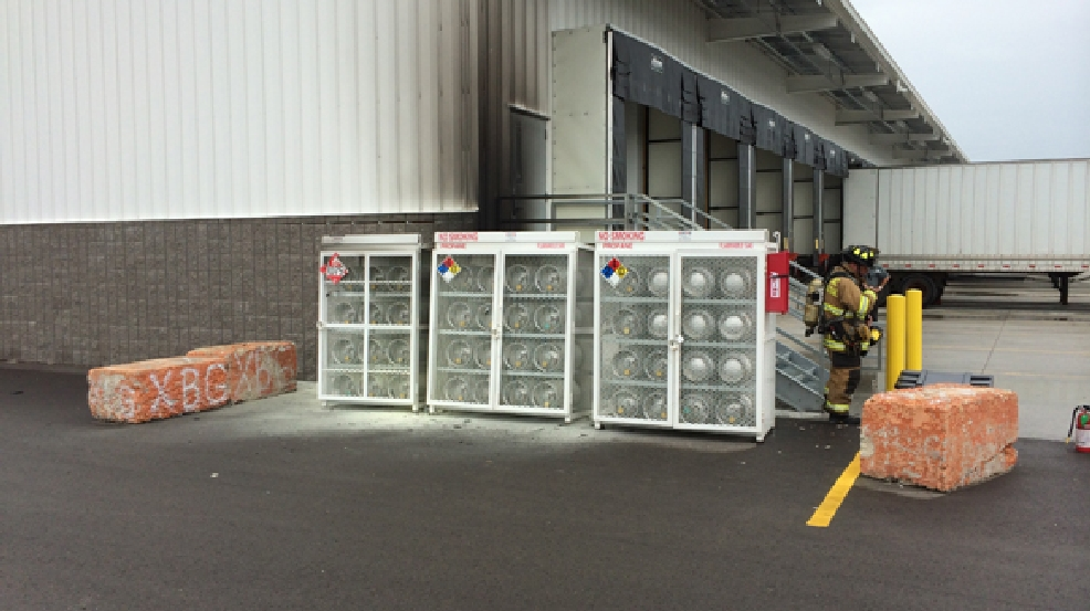 Fire damage outside a commercial building in Fond du Lac Friday, July 25, 2014. (Photo courtesy of Fond du Lac Fire Dept.)