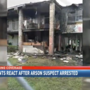 Dozens remain homeless due to a fire allegedly set by a neighbor