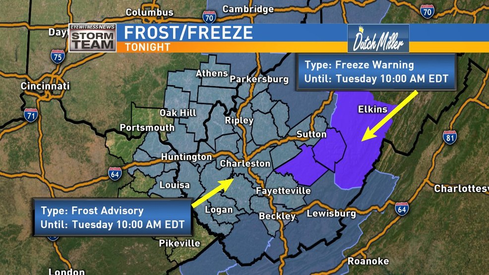 First Frost And/Or Freeze For Some Tonight...