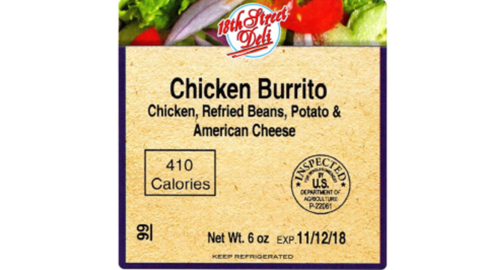 Usda Issues Recall Of Mislabeled Ready To Eat Chicken Burritos Krcr