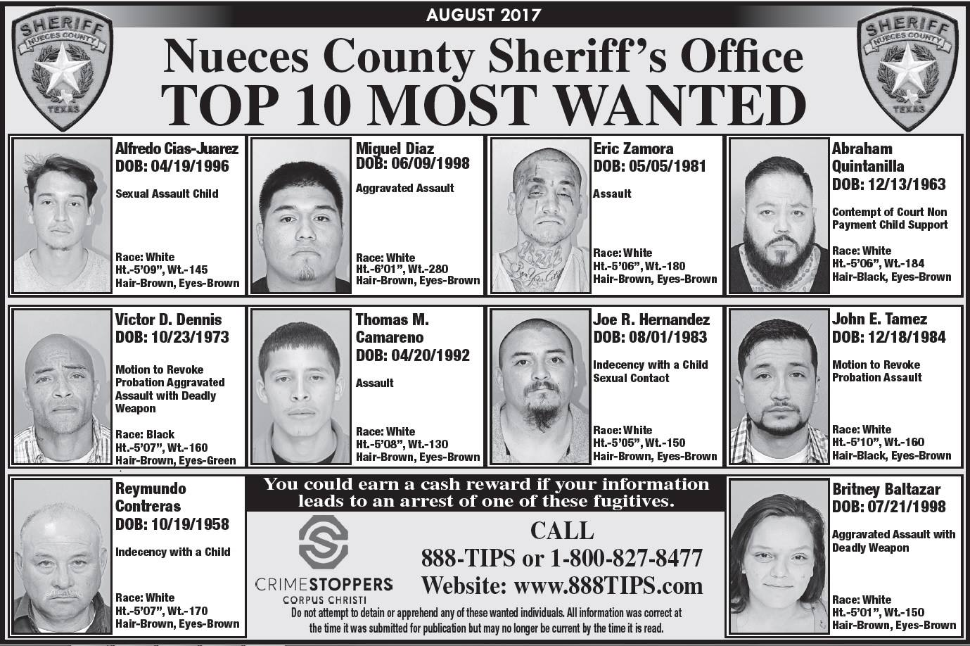 (Photo courtesy of Nueces County Sheriff's Office)