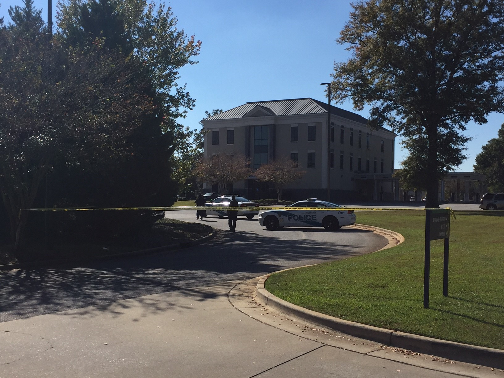An investigation is underway Monday afternoon after a possible bank robbery at the Renasant Bank in the 700 block of North Westover Boulevard. / Mary Green