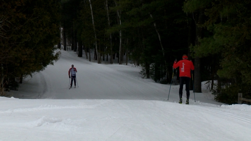Skiers enjoy warmer weather