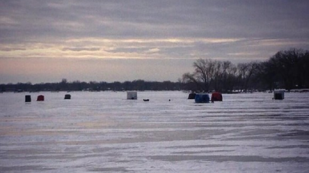 Ice fishing shanties on Lake Winnebago in Oshkosh, December 2013. (WLUK/Chad Doran)