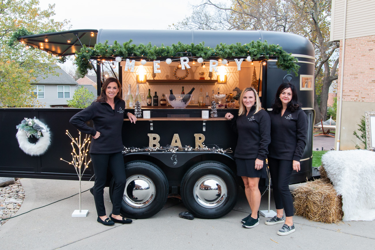 The Merry Mare is a stylish mobile bar that can be booked for weddings, private parties, corporate events, and more within the Cincinnati area and beyond. The female-owned enterprise is run by neighbors and friends Emma Jones, Melissa Gerth, and Tracy Tekulve. The idea came about two and a half years ago when Jones (who had recently moved to the Cincinnati area from England) noticed that, although there were food trucks aplenty, there weren't many mobile bars. / Image: Elizabeth A. Lowry // Published: 11.21.20