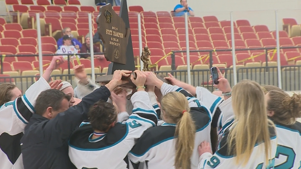 The Bay Area Ice Bears celebrate their first state title.