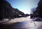 Watson St. in downtown Ripon reopened Feb. 14, 2014 after being closed for more than two months following a fire. (WLUK/Chad Doran)