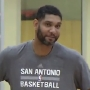 Tim Duncan on hand at Spurs training camp