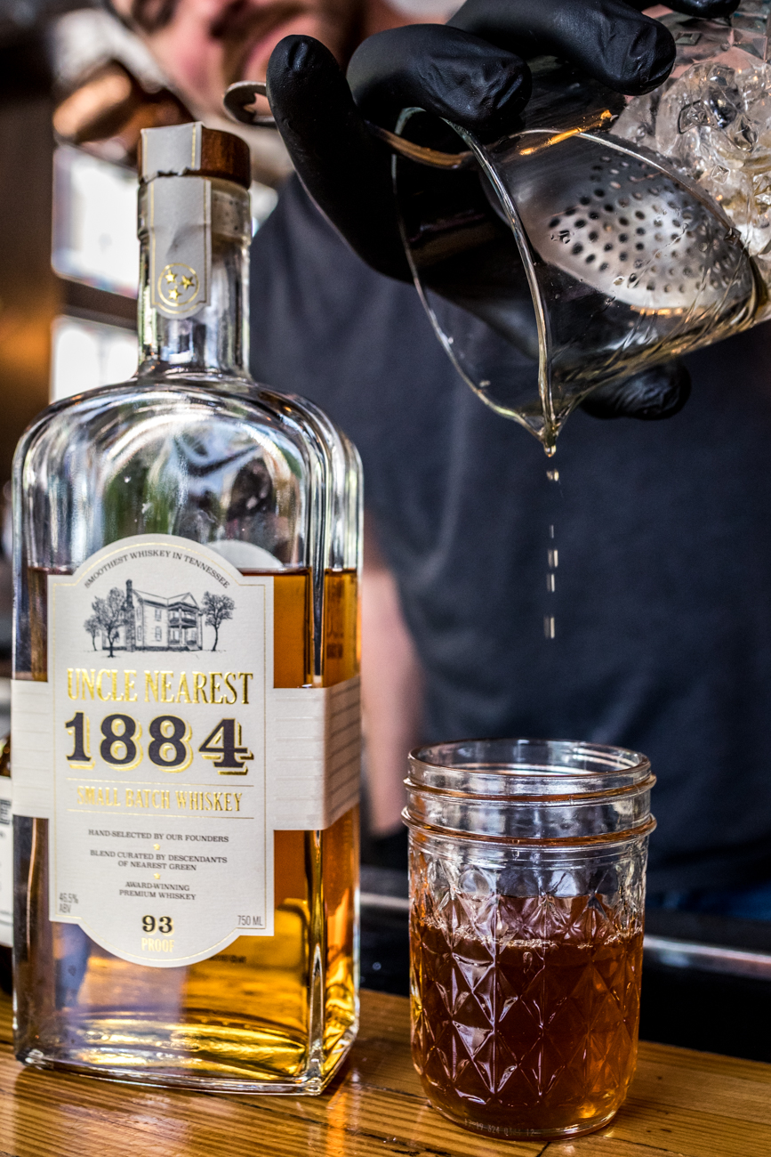 PLACE: Rich's Proper / ADDRESS: 701 Madison Avenue (Covington) / The Bluegrass Embargo: Uncle Nearest 1884, Benedictine, smoked maple syrup, Crude Orange & Fig bitters, and 18.21 Havana & Hide bitters / Carryout available online: richsproper.com / Image: Catherine Viox // Published: 4.28.20