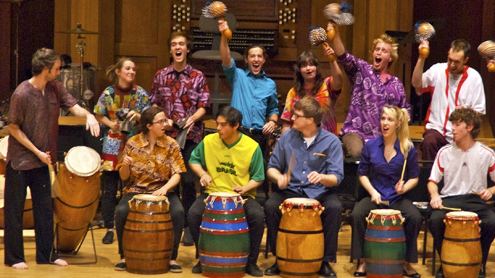 Lawrence University Percussion Ensemble (Photo courtesy Lawrence University)