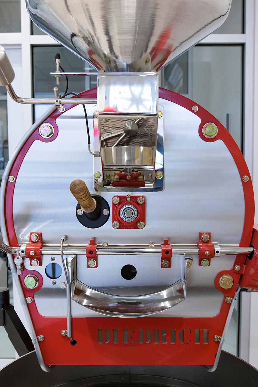 <p>The roaster is used to turn raw cacao beans into chocolate. The chocolatier can use their own techniques in the process to give them a desired flavor. / Image: Allison McAdams // Published: 12.22.18</p>