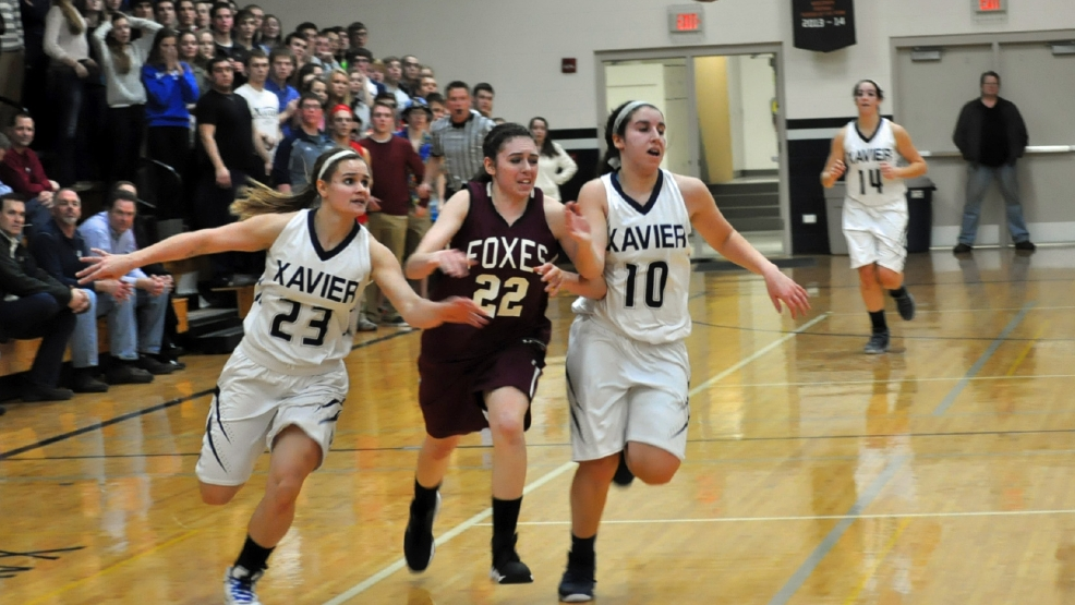 Fox Valley Lutheran beat Xavier, 532-49, Tuesday  night in a girls basketball game. (Doug Ritchay/WLUK)