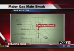 Major gas main break in New Holstein