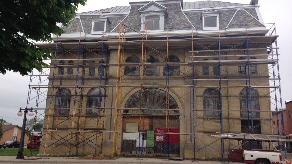 Restoration continues on the 112-year-old building