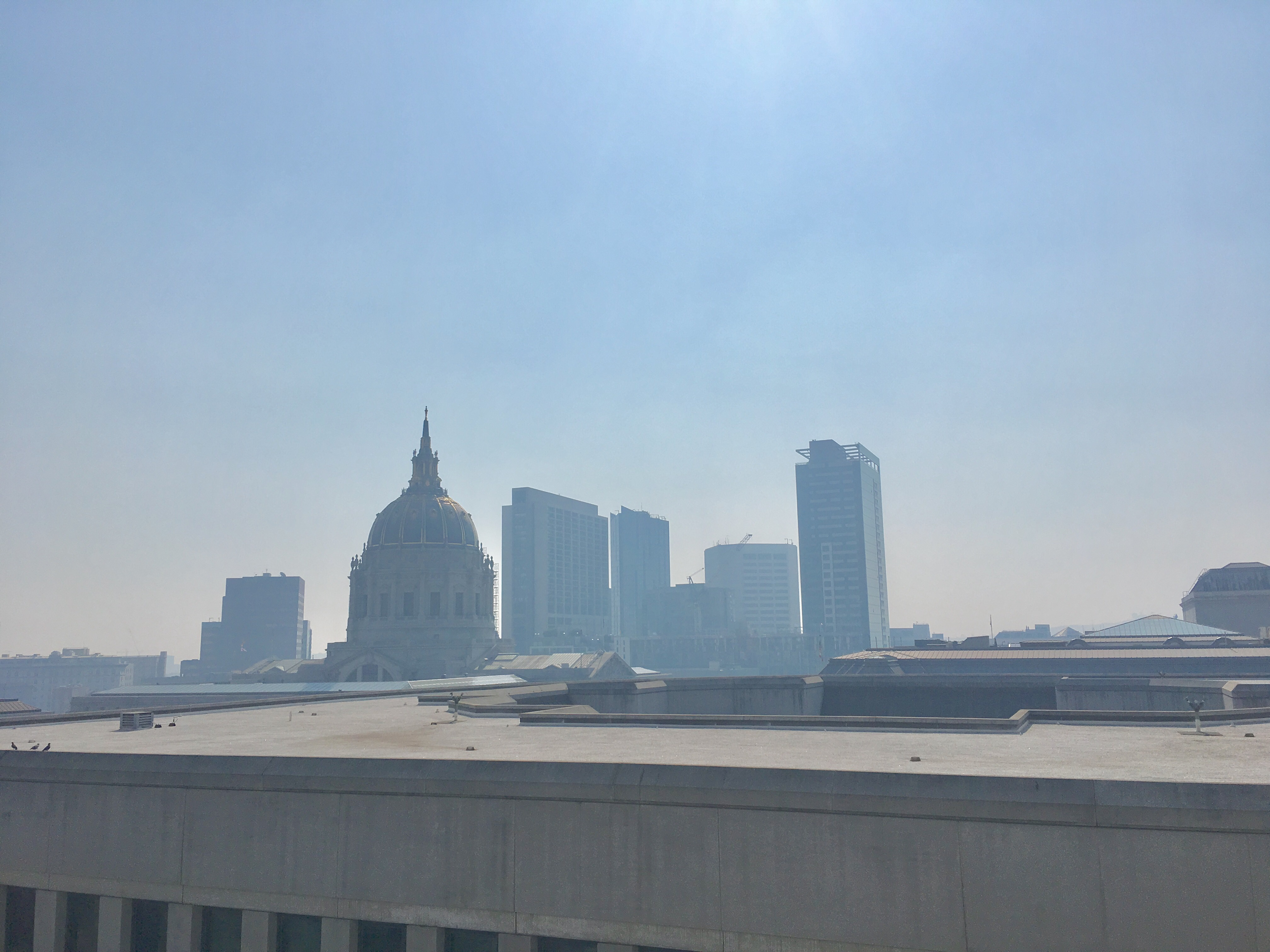 FILE: Image shows smoke in downtown San Francisco on Friday, October 13, 2017 as wildfires rage throughout the northern part of California. (Sinclair Broadcast Group)