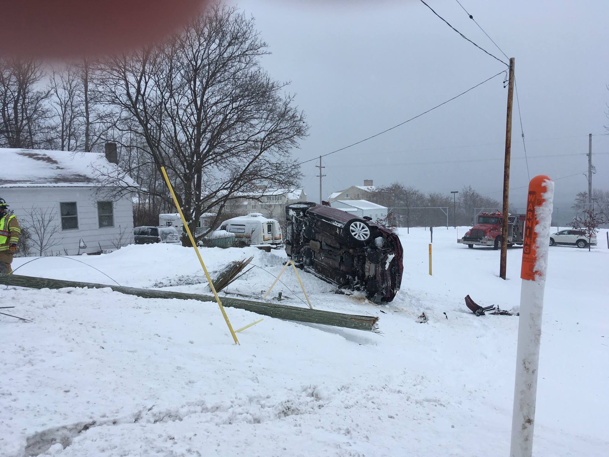 The woman was cited for driving too fast for conditions. Photo Courtesy: Leelanau County Sheriff's Office<p></p>