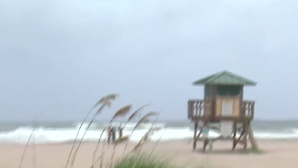 Wind Whips Across Singer Island Hurricane Watchers On