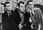 "In an undated file photo, Bill Murray, Dan Aykroyd, center, and Harold Ramis, right, appear in a scene from the 1984 movie ""Ghostbusters"". (AP Photo, File)"