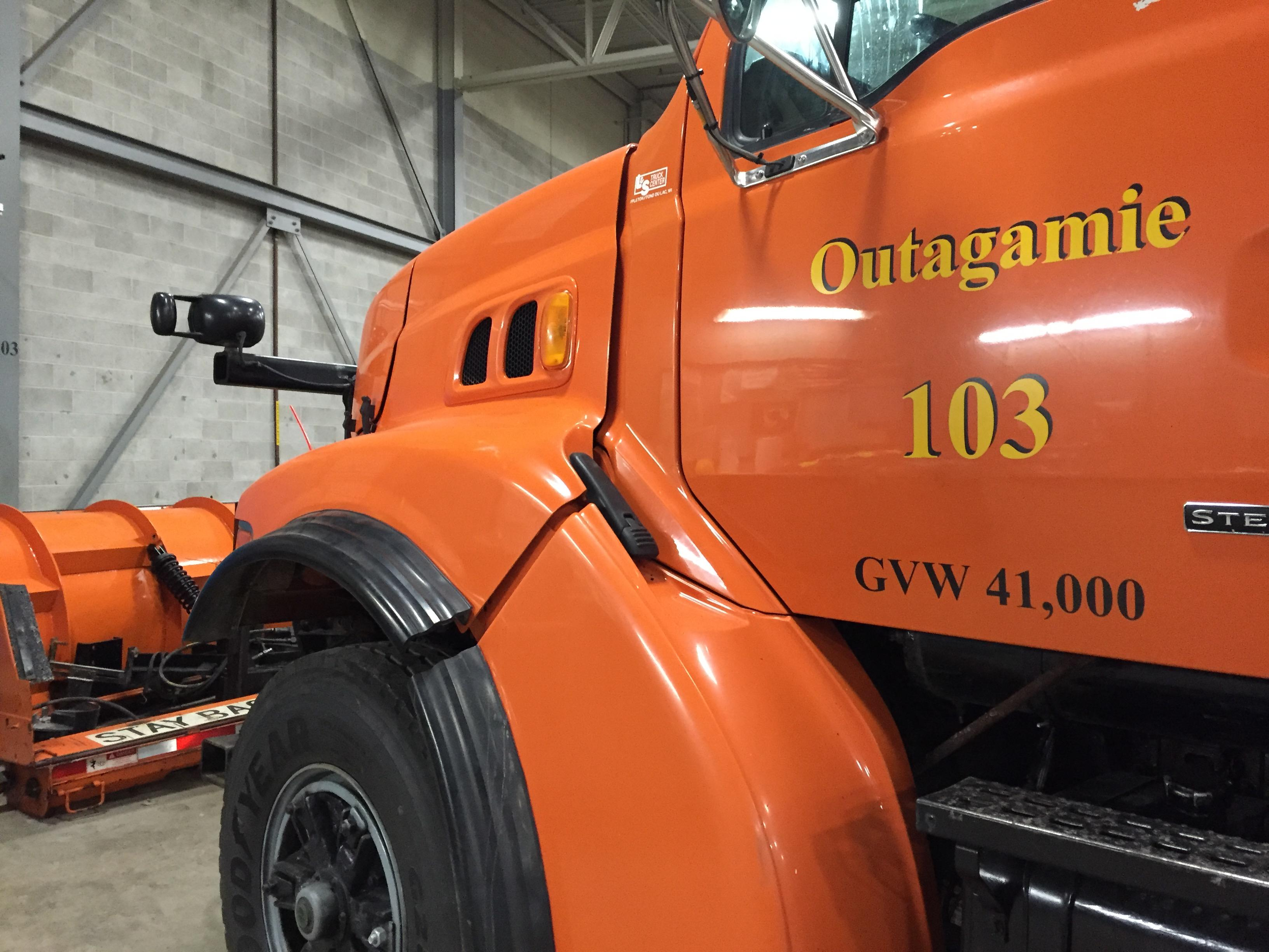 Outagamie County Highway Department Truck (WLUK/Gabrielle Mays)