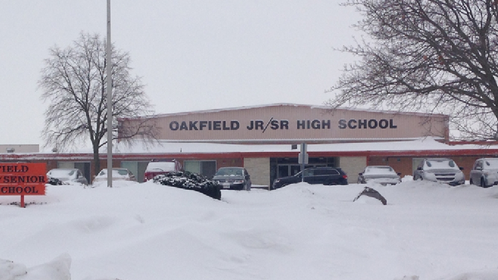 Oakfield Jr./Sr. High School is seen, Feb. 13, 2014.