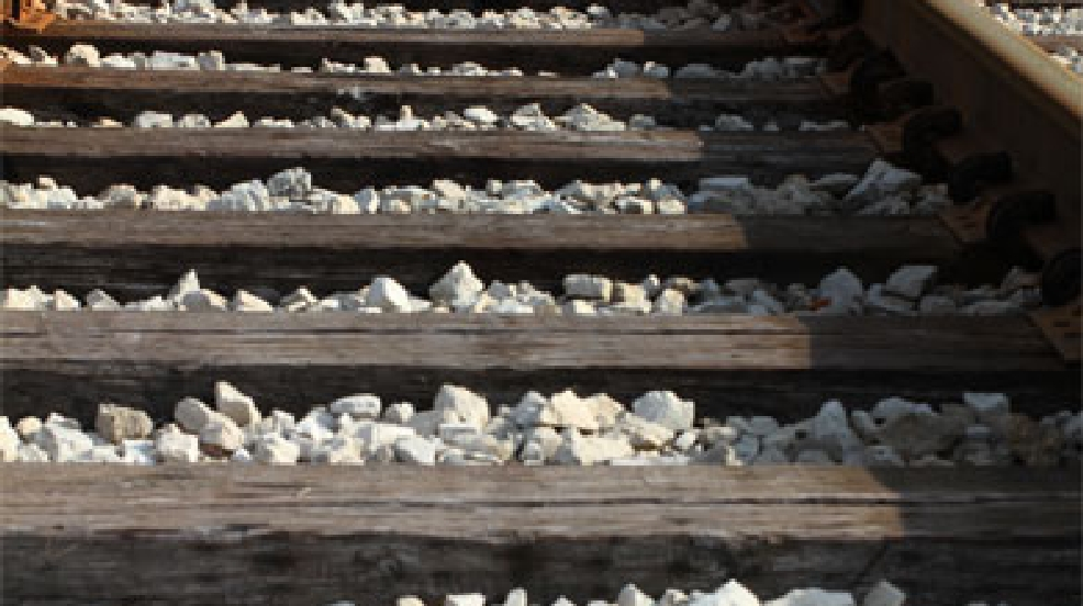 File photo of railroad tracks.