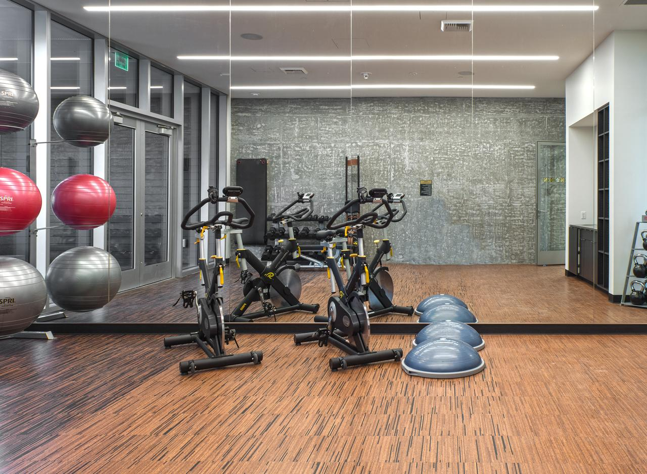 Can you say &quot;Om?&quot; The Yoga Studio is a quiet, simple space where residents can get their Zen on.<p></p>