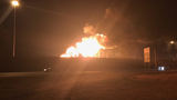 Double tanker vehicle explodes, closes I-15