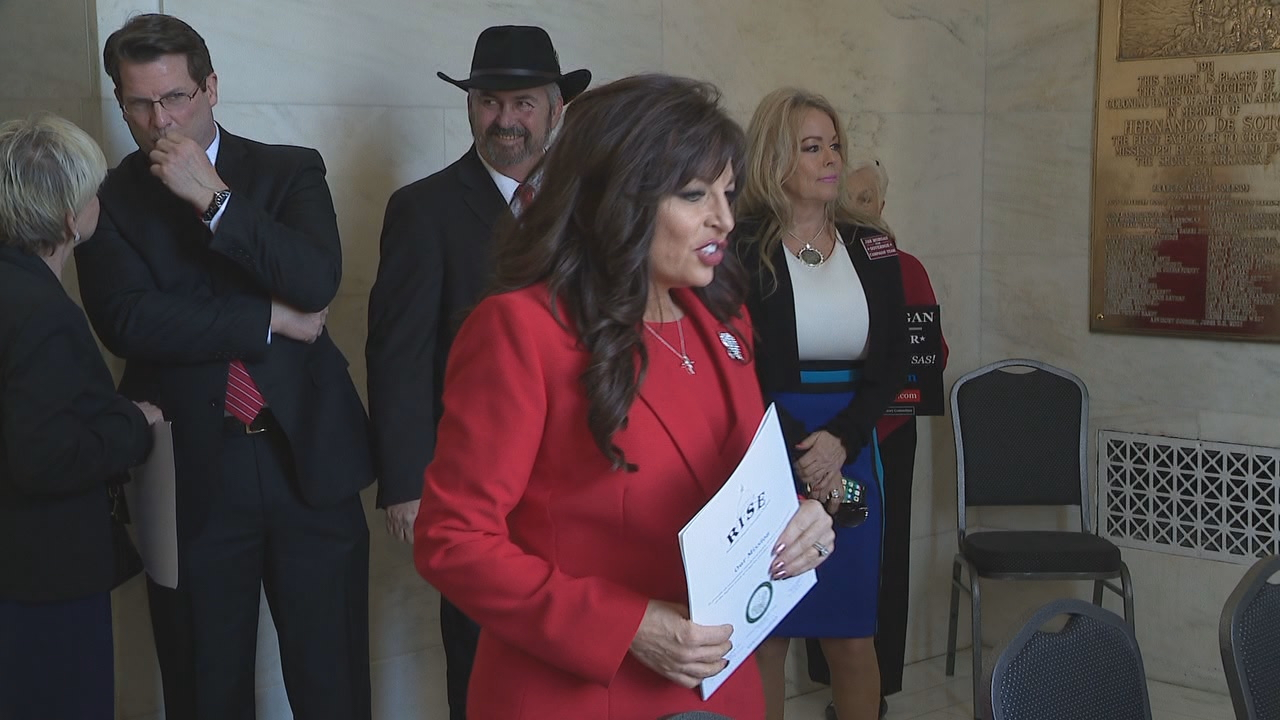 Jan Morgan, a gun range owner out of Hot Springs, made her way to the Arkansas State Capitol and filed on Monday morning.