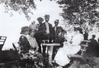 This photo provided by the Pabst Mansion shows a beer garden run by Pabst Brewing Company around 1910 in Whitefish Bay, Wis. The Milwaukee County parks department has started three static outdoor beer gardens and one traveling one, as some parks departments nationwide are starting to embrace once-banned alcohol to shore up their budgets. (AP Photo/Pabst Mansion)