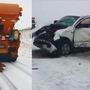 Transportation officials urge caution after 13 vehicles collide with snowplows