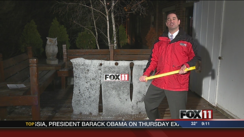 Patrick says goodbye to the FOX 11 ice desk