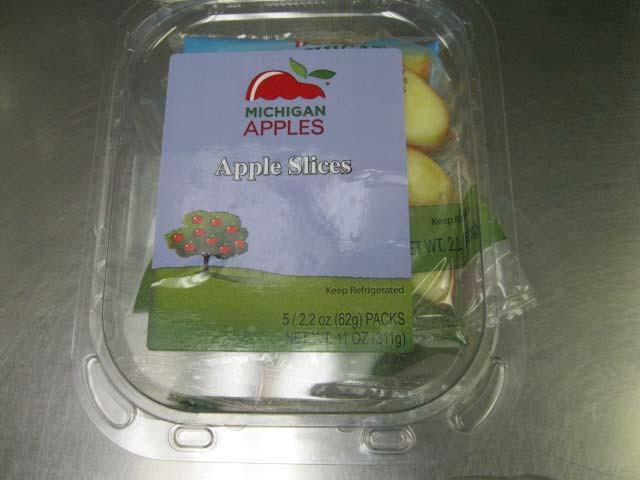 The bagged apple slices were recalled by Fresh Pak.<p></p>