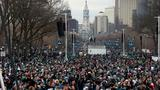 Eagles fans flock to Philadelphia to fete champs at parade