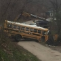 Pike County school bus crashes into creek