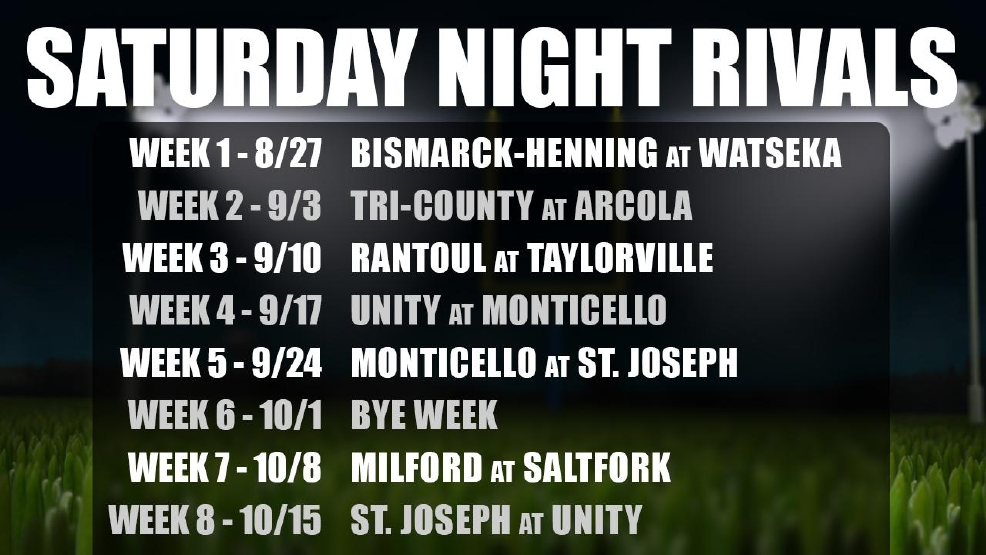 Saturday Night Rivals 2016 Schedule