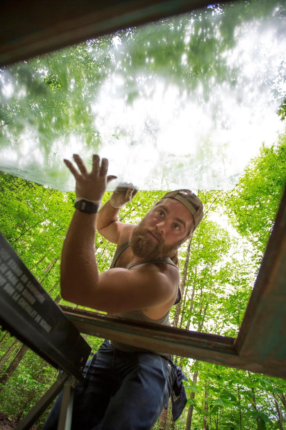 The Canopy Crew is a 10-person treehouse-building team founded by Django Kroner in 2013. They can build your dream treehouse or, if you just want to experience a night among the trees, you can rent one of the two houses they have in Red River Gorge. / Image courtesy of The Canopy Crew // Published: 3.6.17