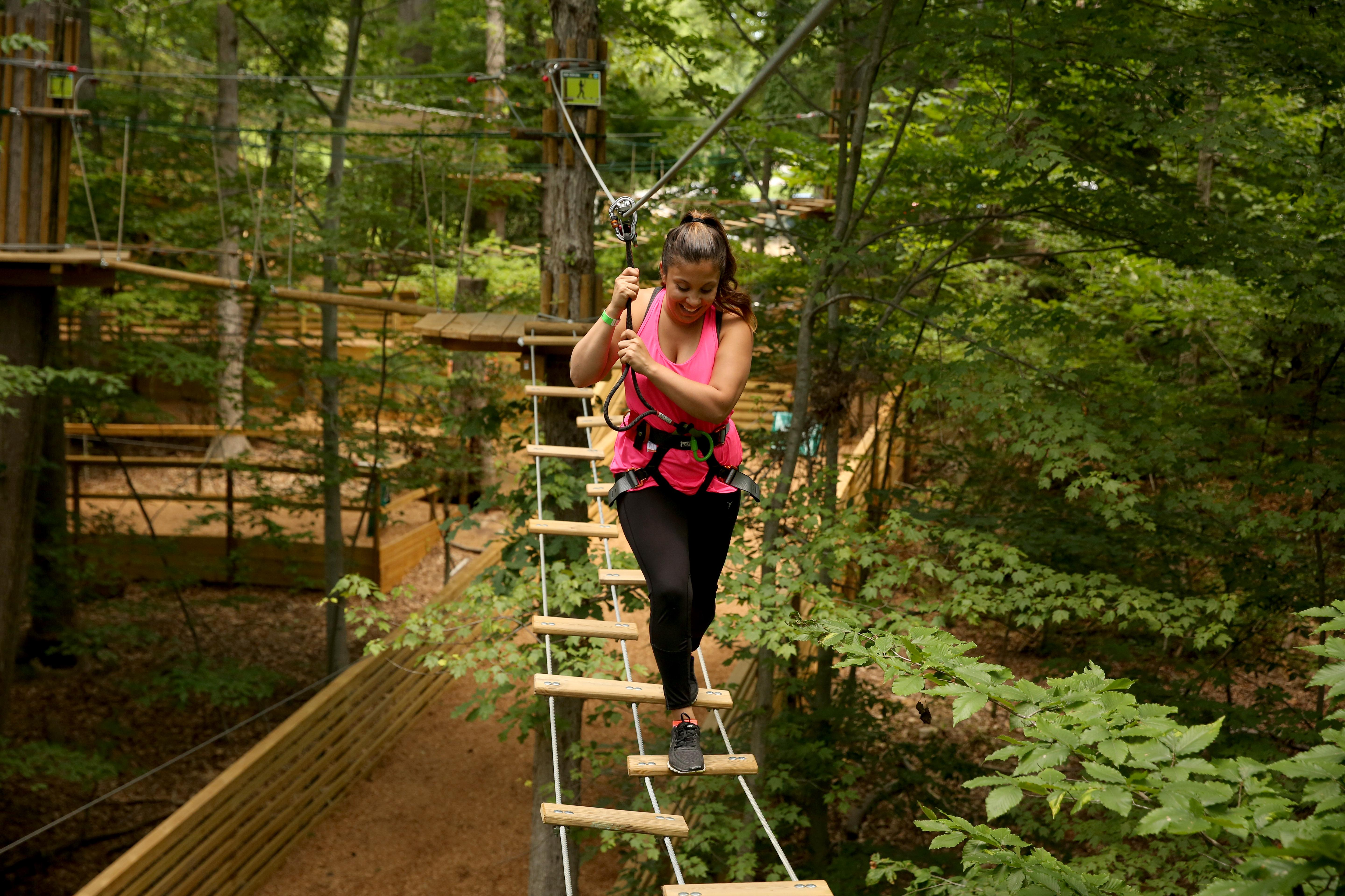 For adrenaline junkies, or those who want to test their fear of heights, Go Ape is the place to be. This treetop course is a fun activity with a diverse variety of challenges that include tarzan swings, ziplines, ladders and ropes. (Image: Amanda Andrade-Rhoades/ DC Refined)
