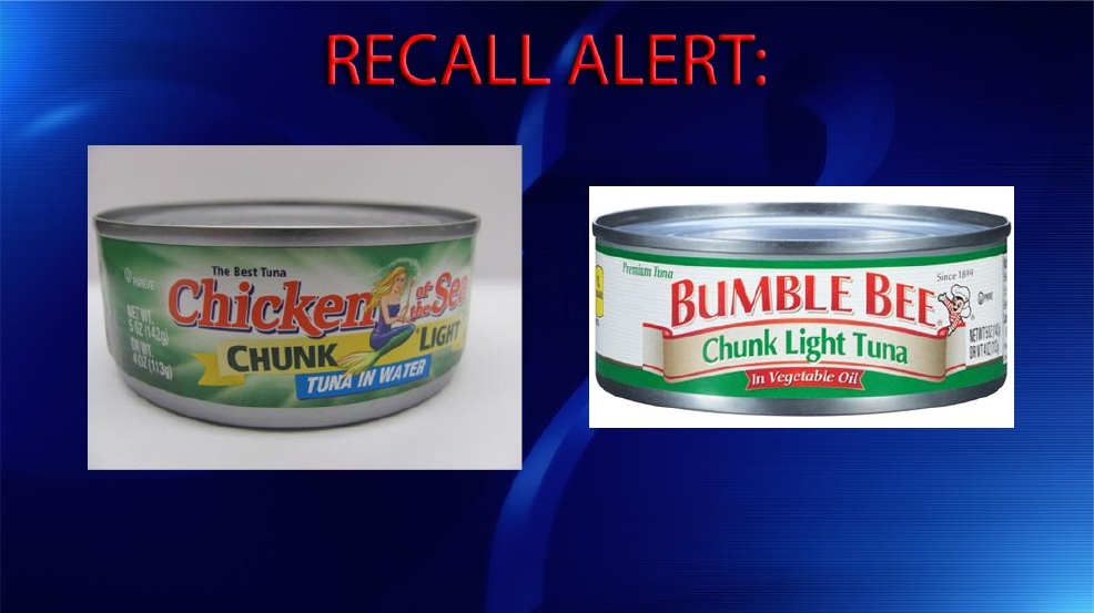recall bumble bee chicken of the sea pull thousands of