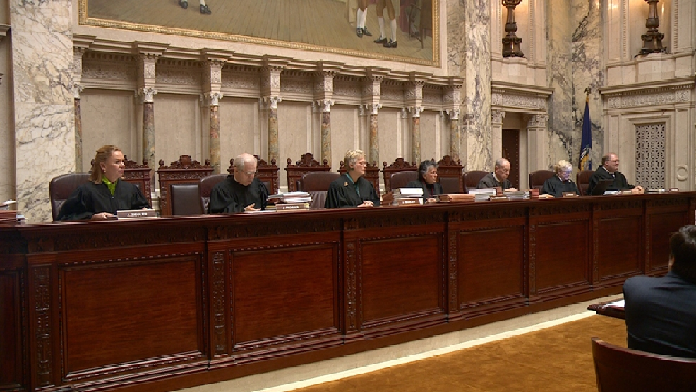 Wisconsin Supreme Court justices on Tuesday, Feb. 25, 2014. (WLUK/Don Steffens)