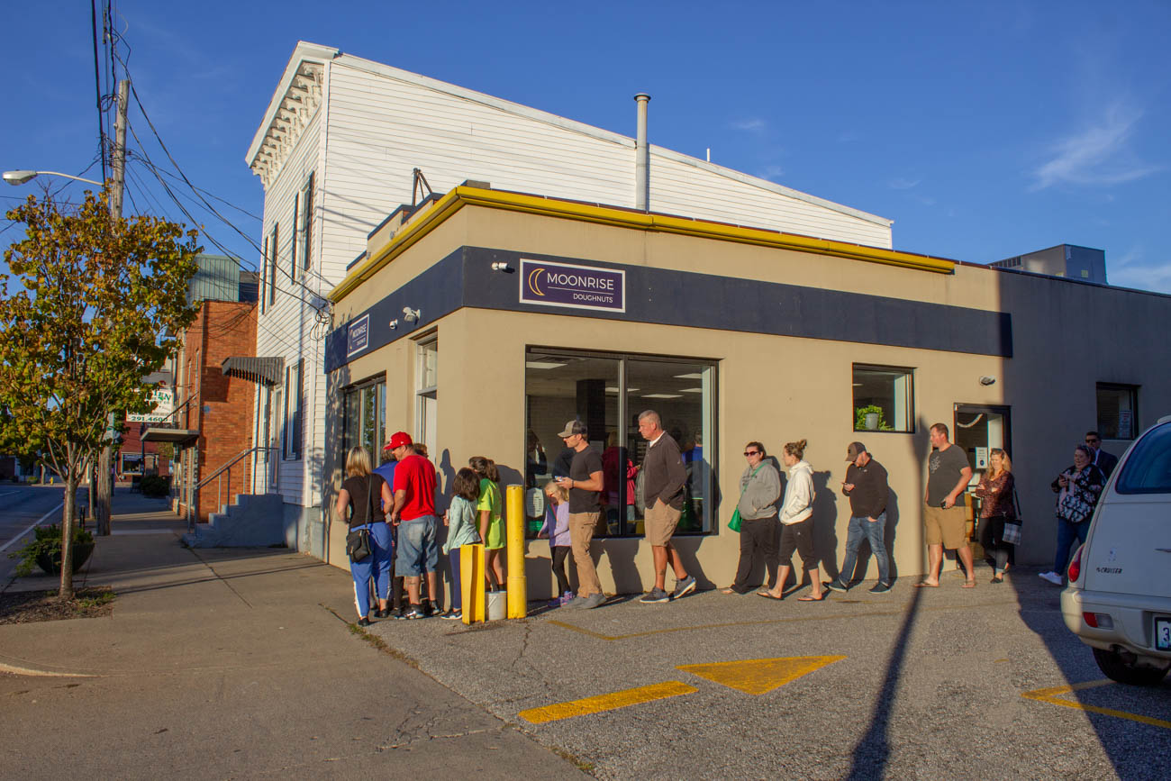 The line wraps around the building on Friday evenings when they open their doors at 6 PM. / Image: Katie Robinson, Cincinnati Refined // Published: 10.20.19