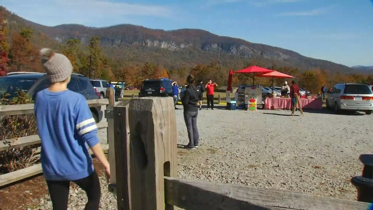 A section of Chimney Rock State Park has reopened after the partial collapse of a retaining wall. It's great news for the park and the Town of Chimney Rock which relies on tourism, especially while fall color is still hanging on in the Hickory Nut Gorge . (Photo credit: WLOS Staff)