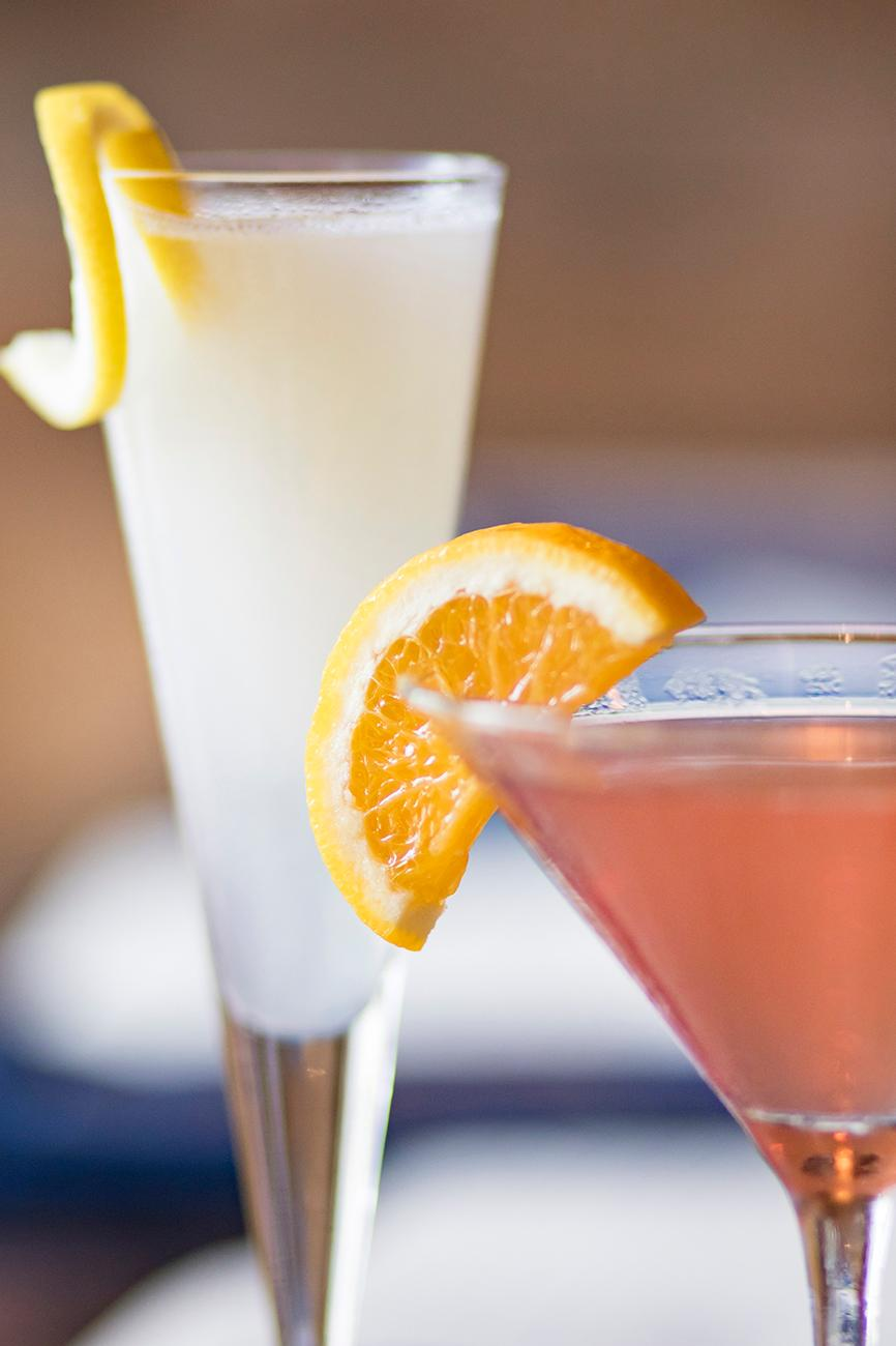 Orangecello cosmo and Sgroppino Al Limone / Image: Allison McAdams // Published: 9.8.18