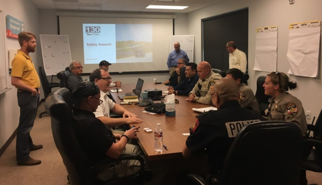 Lockhart area law enforcement held a safety summit with SH 130 Concession Company to figure out future safety improvements. (Photo: SH 130 Concession Company)