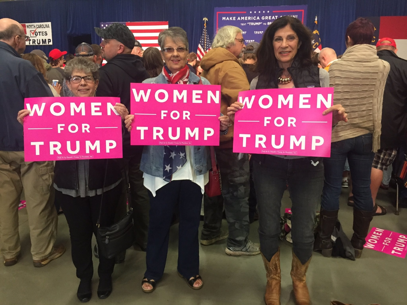 Donald Trump came back to the North Carolina mountains on Oct. 21, 2016, for a rally in the presidential battleground state. The Republican presidential nominee was slated to address a midday crowd in Fletcher at the Western North Carolina Agricultural Center. (Photo credit: WLOS Staff)