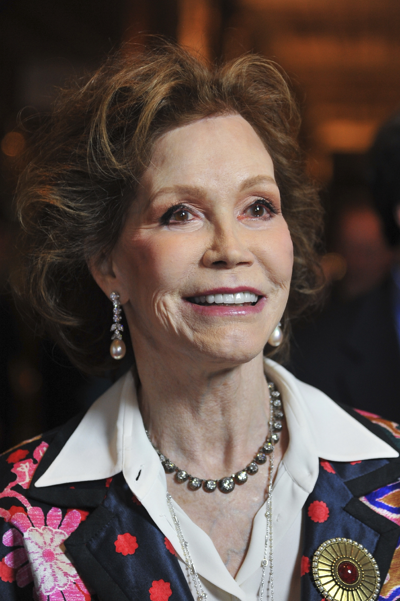"FILE - This Jan. 8, 2012 file photo shows actress Mary Tyler Moore at the taping of ""Betty White's 90th Birthday: A Tribute To America's Golden Girl"" in Los Angeles. Moore died Wednesday, Jan. 25, 2017, at age 80. (AP Photo/Vince Bucci, File)"