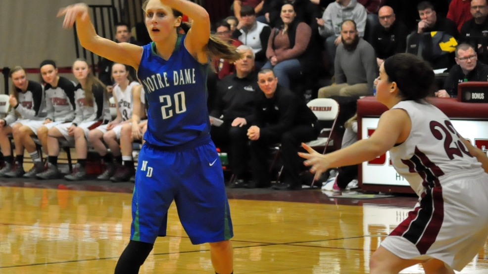 Notre Dame's Eliza Campbell talks about win over De Pere