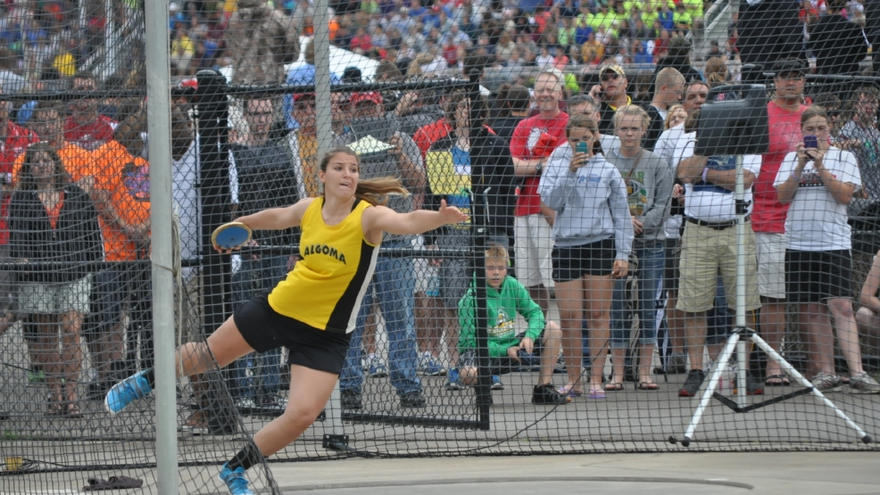 Algoma's Kennedy Blahnik completed her career saturday by winning her eighth state title. (Doug Ritchay/WLUK)
