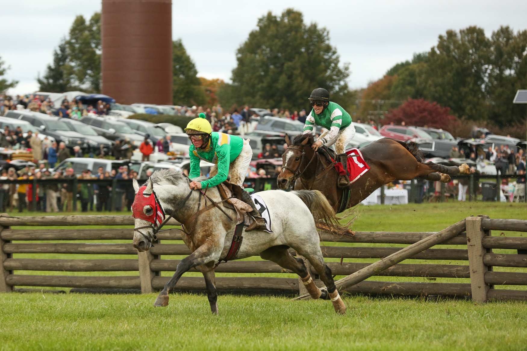 The crowds at the 93rd annual Virginia Gold Cup were a little thin as the rain poured, but horses charged down the track.The weather cleared through the day and the fans that showed up were treated to tight races, a hat competition and tailgating in The Plains, Virginia. (Amanda Andrade-Rhoades/DC Refined)