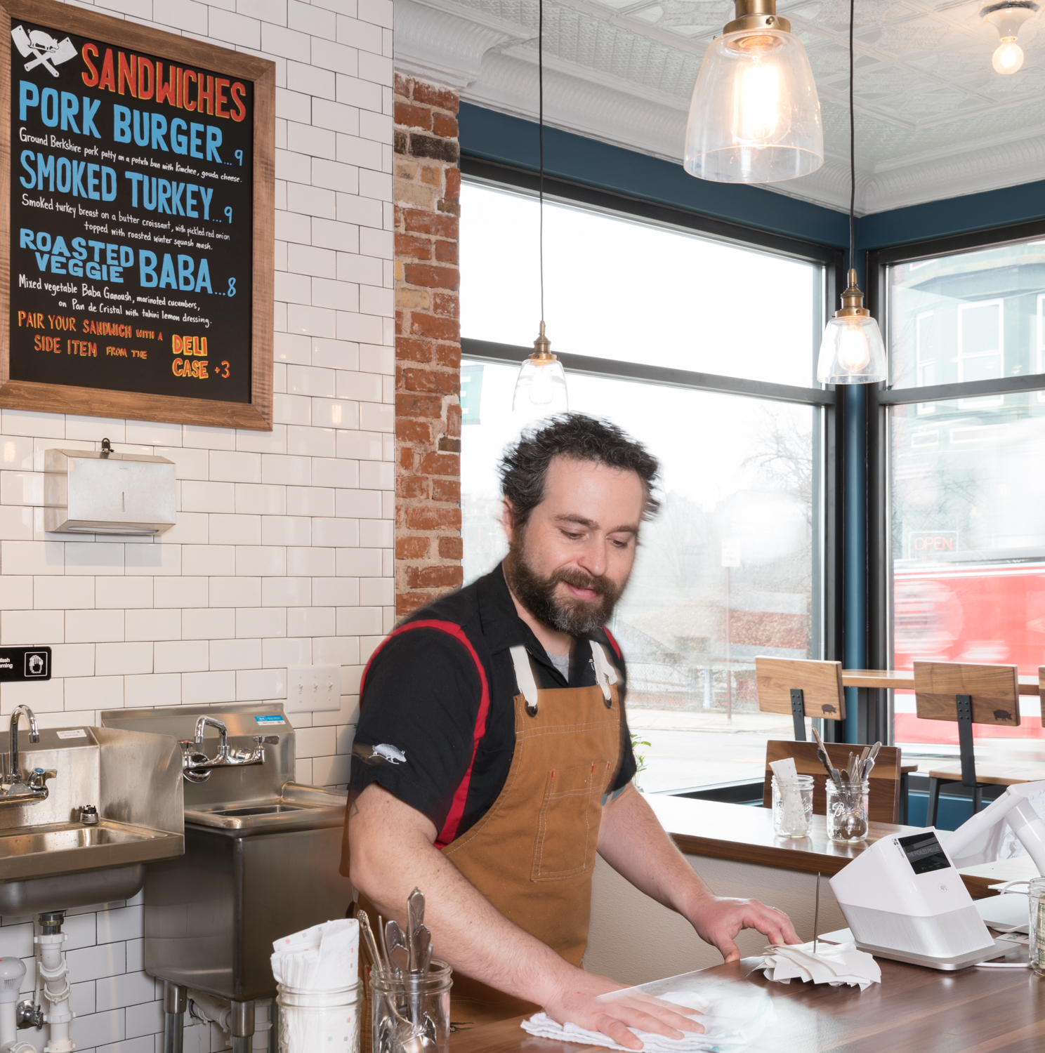 Owner and Chef Gary Leybman keeps the shop squeaky clean. / Image: Marlene Rounds // Published: 3.12.19